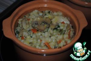 Рецепт Перловая каша с грибами