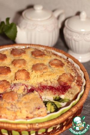 Рецепт Творожный пирог с малиной и шройзелем