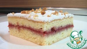 Рецепт Бисквитное пирожное с вареньем