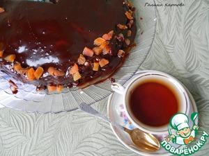 Рецепт Шоколадный торт с творожными шариками и курагой