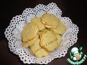 Рецепт Лимонно-маковое печенье с прослойкой из сливочного сыра