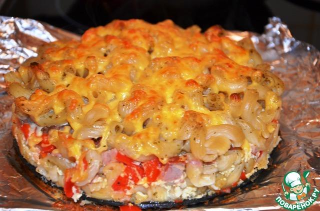 рецепт с макаронами и мясом