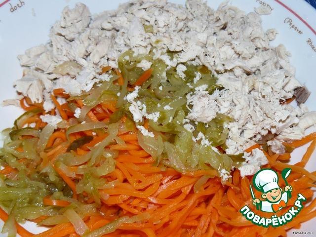 Салат обжорка с курицей классический рецепт