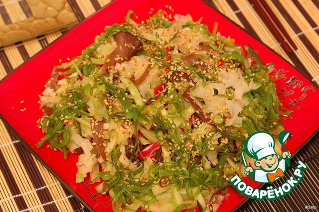 Рецепты салатов с древесными грибами с