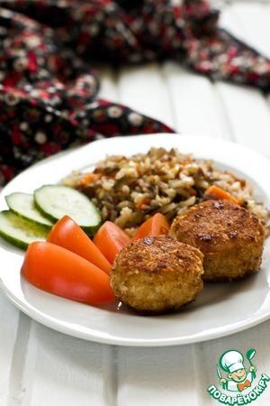 Рецепт Рыбные котлеты в кокосовой панировке