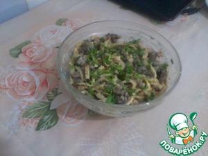 Рецепт Печеночный салат с яичными блинами