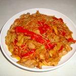 Филе индейки с рисовой лапшой