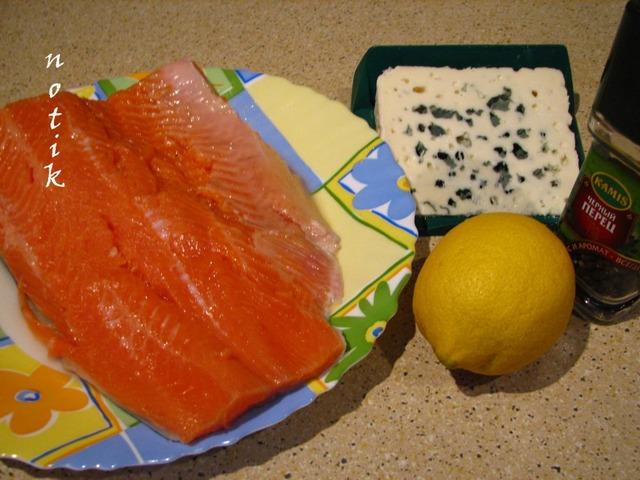 Форель с голубым сыром домашний рецепт с фотографиями #1