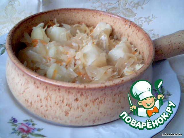 Квашеная капуста тушеная с картошкой рецепт пошагово в