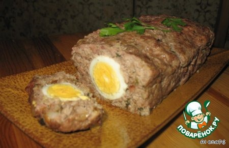 мясной рулет из фарша с яйцом в духовке рецепт с фото в фольге