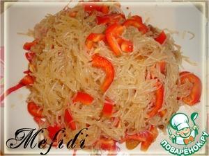 Рецепт Горячий салат из фунчозы