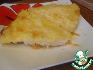 Рецепт Соте из курицы с рисом под сырной корочкой