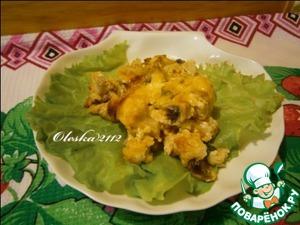 Рецепт Запеканка из цветной капусты с шампиньонами
