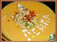 Сливочно-тыквенный суп с сырными рулетиками