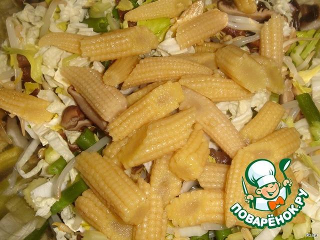 Салат с початок кукурузы