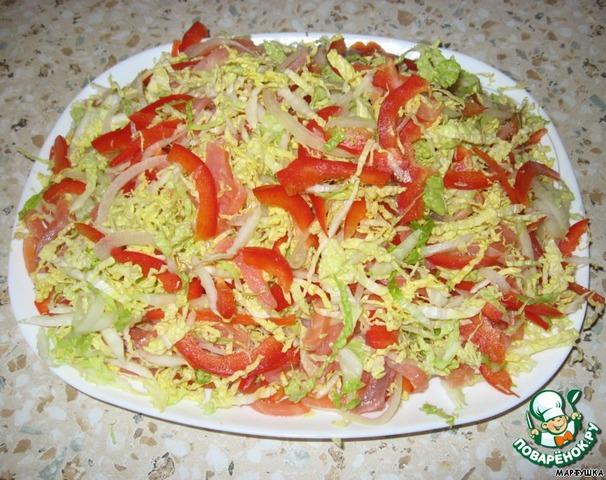 Рецепт салата салют с