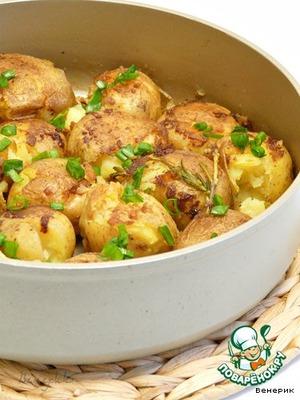 """Рецепт """"Запечeнный"""" картофель (Pommes de terre  fondantes)"""