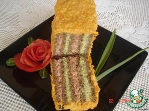 """Рецепт Бутербродный торт """"Полосатик"""""""