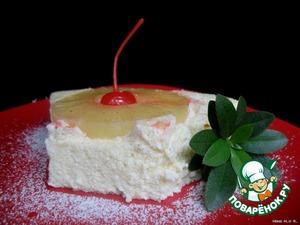 Рецепт Легкое творожное суфле с ананасом