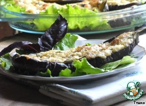 Eggplants baked with cheese