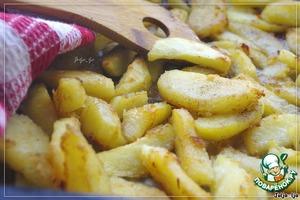 Рецепт Картофель, запечeнный с имбирeм и чесноком