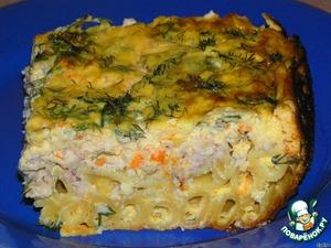 Рецепт Макароны с курочкой, запеченные в нежно-сливочном соусе