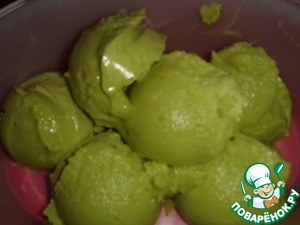 Рецепт Лимонное мороженое из авокадо без сахара