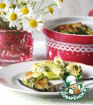 Рецепт Кассероль из кабачков, сыра и хлеба