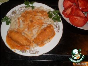 Рецепт Крученики из куриного филе