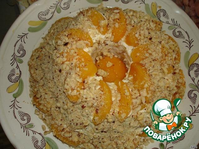 Песочный торт с персиками пошаговый рецепт приготовления с фото готовим #24