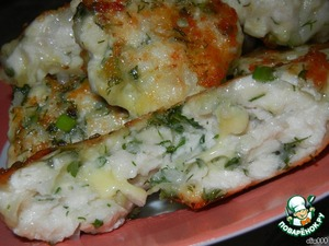 Рецепт Рубленые котлетки из курицы с сыром и зеленью