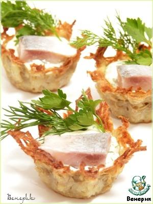 Рецепт Ажурные картофельные тарталетки