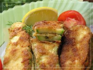 Рецепт Кабачковые сэндвичи с сыром в хрустящем кляре