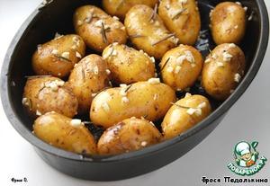 Рецепт Картофель, запеченный в чесночном масле с розмарином