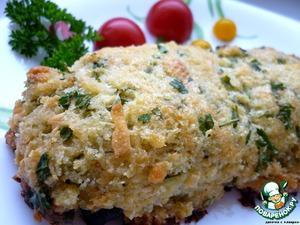 Рецепт Горбуша под хлебной корочкой