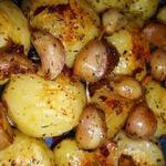 Запеченный острый картофель с чесноком