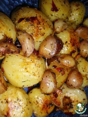 Рецепт Запеченная острая картошка с чесноком