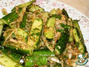 Рецепт Острые огурцы по-корейски