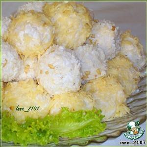 """Рецепт """"Рафаэлло"""" из куриной  грудки  с кедровыми орешками"""