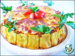 Рецепт Каннеллони с фаршем, томатами и моцареллой «Италия по-русски»