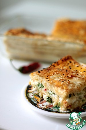 Рецепт Греческий пирог с брынзой