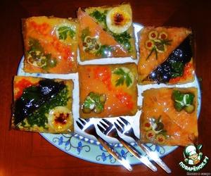 Рецепт Закусочные бутерброды «Под стеклом»