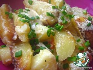 Рецепт Картошечка под сметанно-сырным соусом