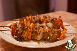 Рецепт Шашлычки домашние из куриной грудки