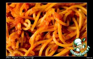 Рецепт: Макароны с соусом «Аматричана»