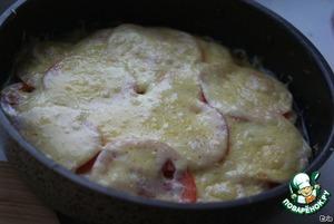 Рецепт Баклажаны, запеченные с грибами и помидорами