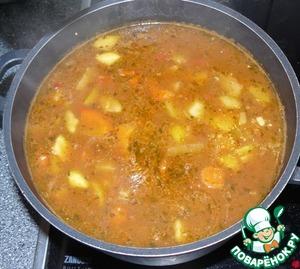Рецепт Овощной суп с мясом