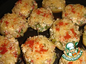 Рецепт Запеченая картошечка с брынзой