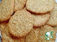Хрустящее кунжутное печенье ингредиенты