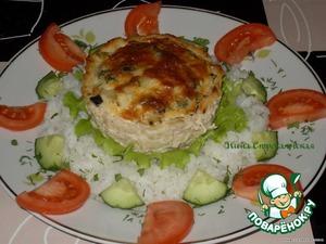 Рецепт Куриное лукошко с грибами